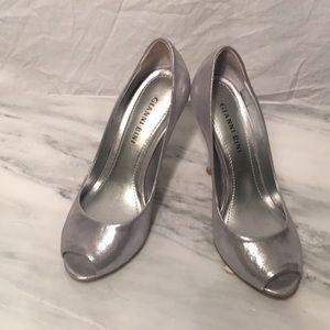 Gianni Bini Silver Pumps